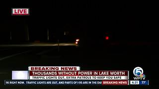 Thousands without power in Lake Worth after major outage - Video
