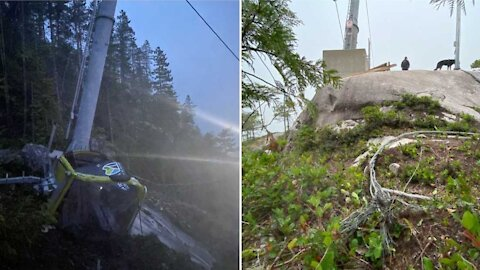 The Sea To Sky Gondola Crashed Down Last Night After Someone Cut The Cable Again