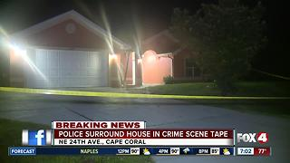 Police presence a Cape Coral home early Monday morning