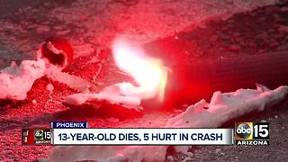 Teenage boy dies following crash with suspected impaired driver in Phoenix - Video