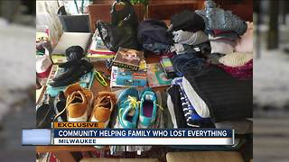Community helping family who Lost everything - Video