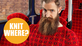 Urban photographer shoots knitwear clothing to camouflage with real life objects - Video