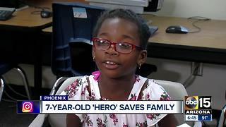 Valley girl saves family from house fire in north Phoenix