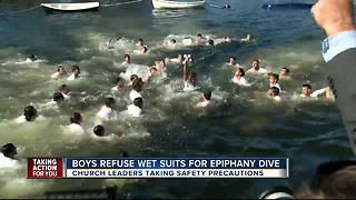 Church takes precautions ahead of chilly Epiphany celebration - Video