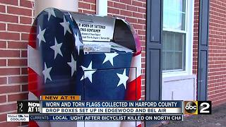 Funeral home collecting American flags for deceased vets - Video