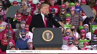 President Trump holds rally in Iowa