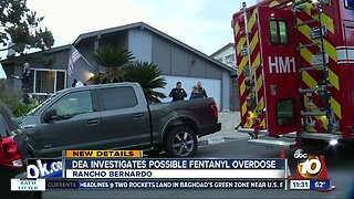 DEA investigates possible fentanyl overdose