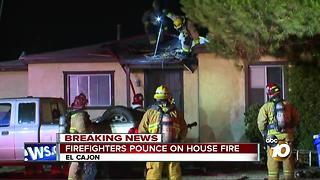 House fire breaks out in El Cajon - Video