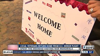 Local veterans return home from D.C.