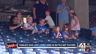 Royals honor Gold Star families on Memorial Day - Video