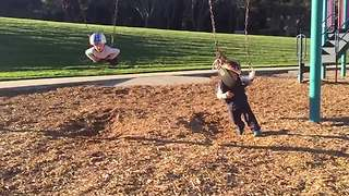 A Little Boy VS A Swing - Video