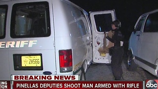 Pinellas deputies shoot man armed with rifle - Video