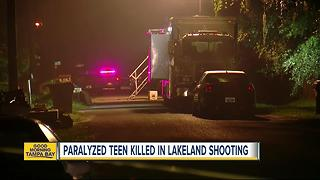 Paralyzed teen killed in Lakeland drive-by shooting - Video