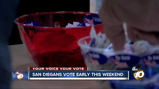 Your voice your vote: Early weekend voting begins