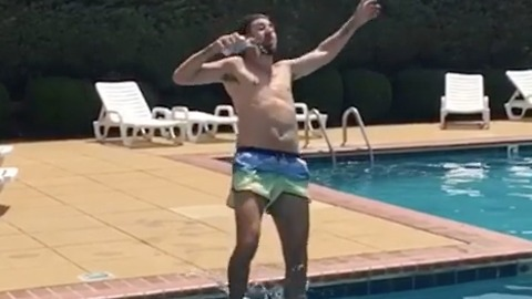 Cannon Ball + Beer = A Fun Time