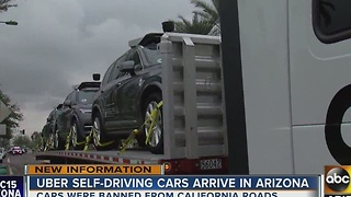New in town: Uber's self-driving cars arrive in Arizona - Video