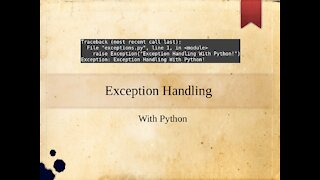 Exception Handling with Python (Ep. 14)