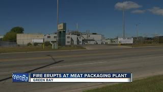 Meat packaging plant fire in Green Bay