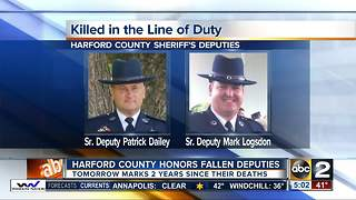 Harford County remembers fallen deputies - Video