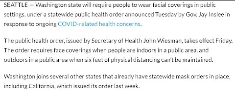 I React To Washington State Making It a Crime If You Go Outside Without A Mask On