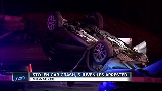 Juvenile stolen car crash - Video
