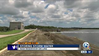 New reservoir finally cleaning stormwater runoff - Video