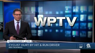 Bicyclist severely injured in West Palm Beach hit and run