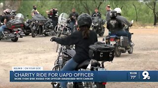 More than $15K raised for UAPD motor officer battling cancer