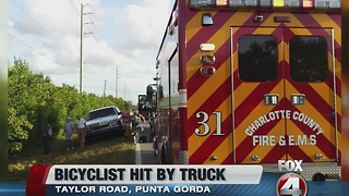 Bicyclist injured in Punta Gorda collision - Video