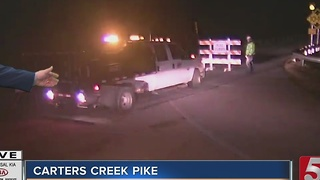 Carters Creek Pike Closed After Cement Truck Crash - Video