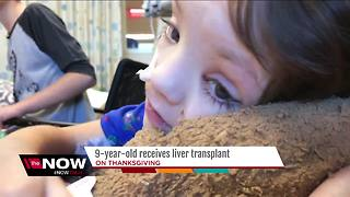 9-year-old liver transplant recipient raises donation awareness - Video