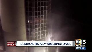 Live report from Houston as Hurricane Harvey makes landfall in Texas - Video