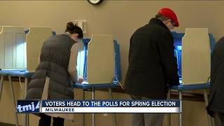 MKE Voters take to polls for spring election - Video