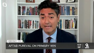 Aftab Pureval talks live with WCPO after primary win