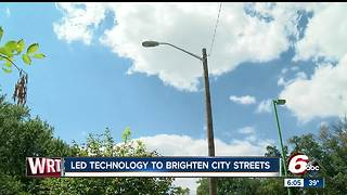 LED streetlights to be installed in Indianapolis neighborhoods - Video