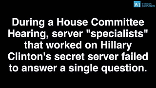 Hillary Clintons Server Admins Refuse To Answer Repeatedly Plead The Fifth - Video