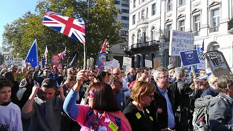 Crowds young and old march for 'final say' on Brexit under London sun