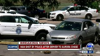 Police shoot suspect after multi-jurisdictional pursuit ends in Aurora