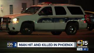 Man hit and killed by vehicle in south Phoenix - Video
