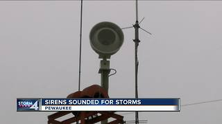 Sirens sound during severe storm in Waukesha County, causing some confusion