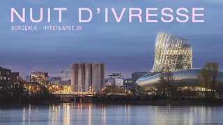 Time lapse of new high tech wine museum in Bordeaux, France - Video