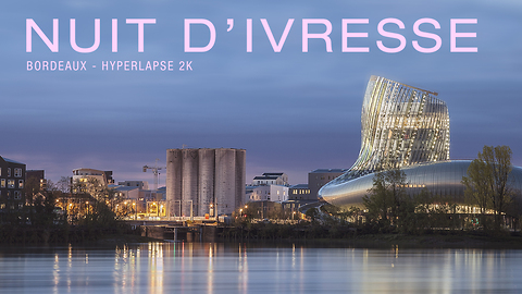 Time lapse of new high tech wine museum in Bordeaux, France