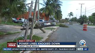 Power lines still down days after Irma hit South Florida - Video
