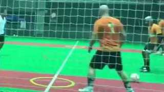 Indoor Soccer Player Scores Frankly Freaky Goal - Video