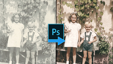 Time lapse restoration & colorization of incredibly old photo