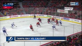 Tampa Bay Lightning rally for shootout win over Calgary Flames