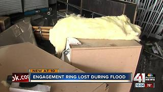 Engagement ring lost during flood - Video