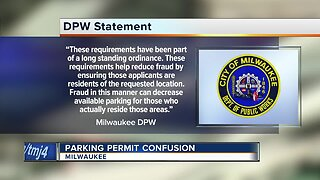 Milwaukee Parking Permit Confusion.