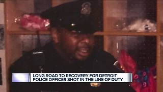Long road to recovery for Detroit police officer shot in the line of duty - Video