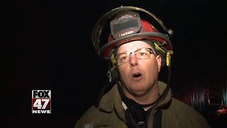 Distance caused problems for firefighters during a house fire - Video